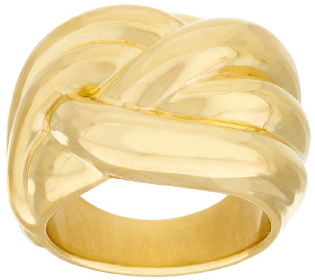Oro Nuovo Polished Dimensional Ribbed Ring 14K