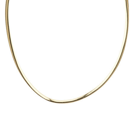 """As Is"" Veronese 18K Clad 18"" Polished 5mm Omega Necklace"
