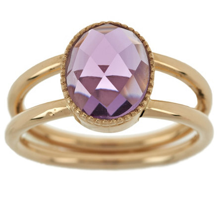 """As Is"" EternaGold Faceted Gemstone Ring, 14K Gold"