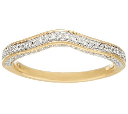 Michael Beaudry 3/10 cttw Diamond 3-Sided Band Ring, 14K Gold