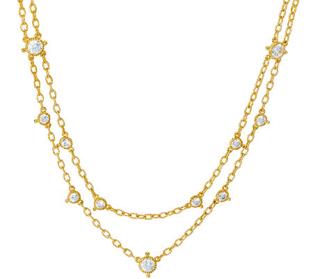 Judith Ripka 14K Clad 118 Facet Diamonique Necklace