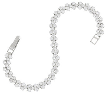 Diamonique 4.95 cttw Tennis Bracelet Sterling or 14K Clad - J329196