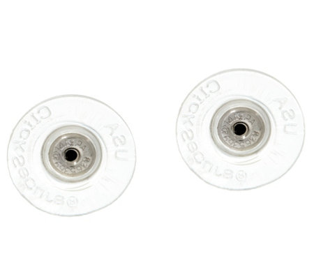 Click Secure Oversized Round Disc Earring Backs 14K White Gold
