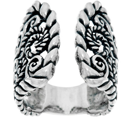 Carolyn Pollack Sterling Silver Signature Open Style Ring