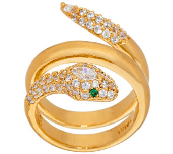 """As Is"" The Elizabeth Taylor Sim. Diamond Snake Ring - J331496"