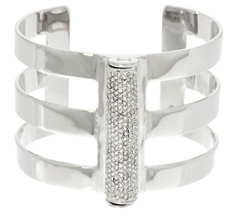 """As Is"" H by Halston Pave Cylinder Cuff - J332496"