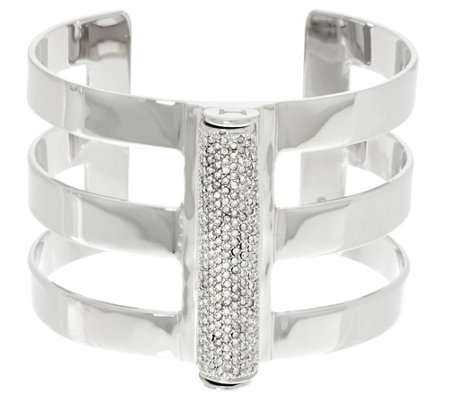 """As Is"" H by Halston Pave Cylinder Cuff"