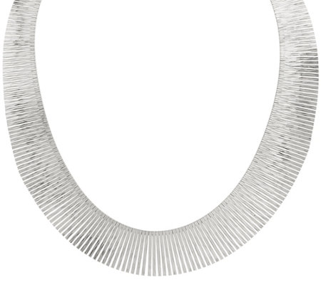 "Italian Silver Sterling Diamond Cut 20"" Collar Necklace, 51.0g"