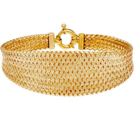 """As Is"" Dieci 8"" Braided Mesh Bracelet 10K Gold, 8.6g"