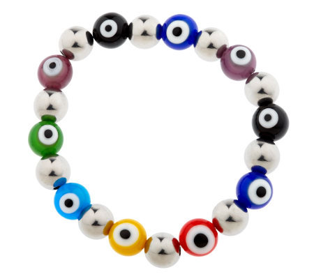 Steel by Design Evil Eye Stretch Bracelet