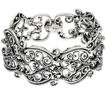 Carolyn Pollack Sterling Silver Signature Link Small Bracelet, 46.0g - J156397