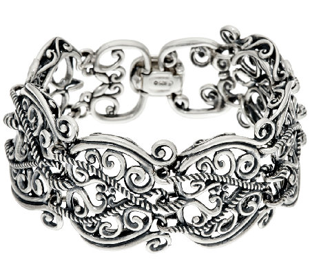 Carolyn Pollack Sterling Silver Signature Link Small Bracelet, 46.0g