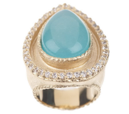 Rivka Friedman Bold Pear Shape Gemstone Cabochon Ring