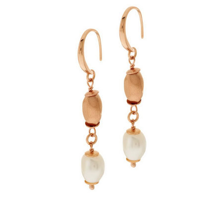 Honora Cultured Pearl 10.0mm Baroque Bronze Nugget Drop Earrings