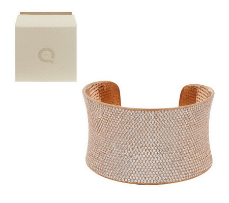 Ultra Pave Average Bold Cuff by Diamonique