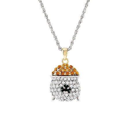 Killarney Crystal Pot of Gold Pendant