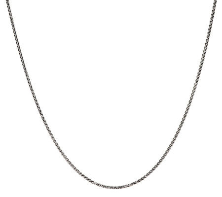 "JAI Sterling 24"" Fine Wheat Chain Necklace"