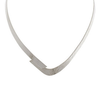 """As Is"" Dominique Dinouart Sterling Bypass Collar - J292897"