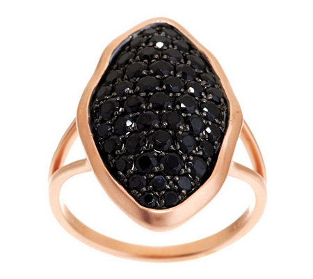 """As Is"" 1.45 ct tw Black Spinel Marquise Design Ring, 14K Gold"