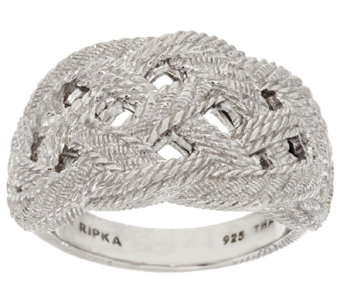 Judith Ripka Sterling Braided Berge Texture Ring - J296597