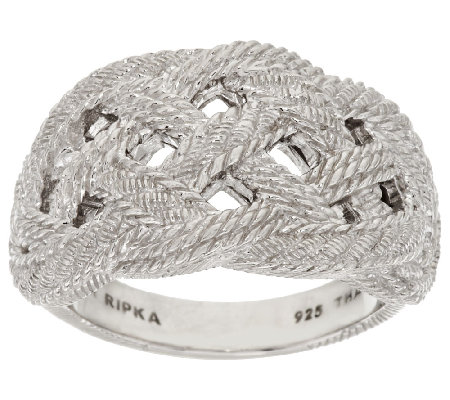 Judith Ripka Sterling Braided Berge Texture Ring