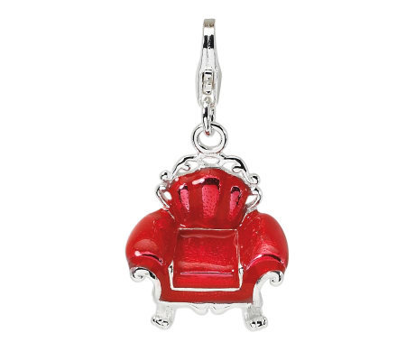 Amore La Vita Sterling Red Overstuffed ChairCharm