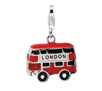 Amore La Vita Sterling Double-Decker LondonBusCharm - J299997