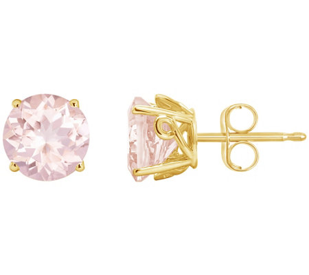 2.00 ct tw Morganite Gemstone Stud Earrings14KGold