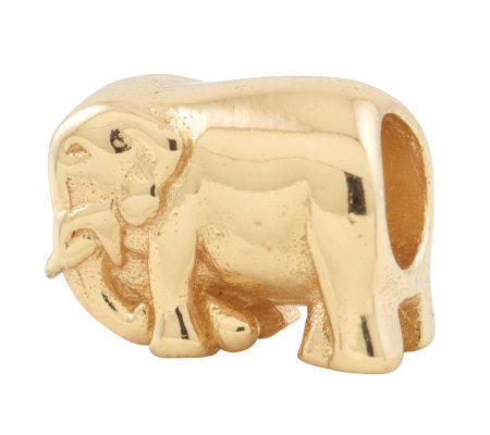 Prerogatives 14K Yellow Gold-Plated Sterling Elephant Bead