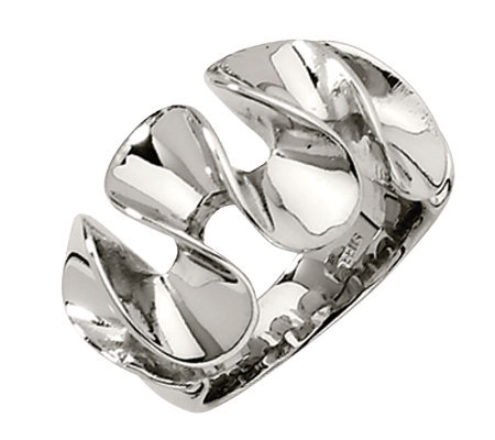 Stainless Steel Wavy Ring