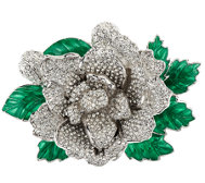 Joan Rivers Jeweled Blossoms Pave' Gardenia Pin