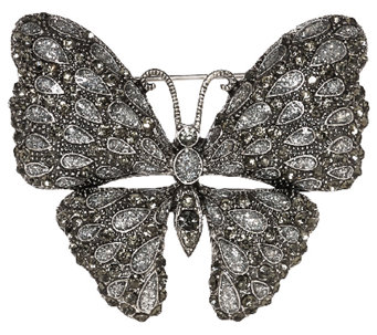 Joan Rivers Shimmering Crystal Butterfly Brooch - J321597