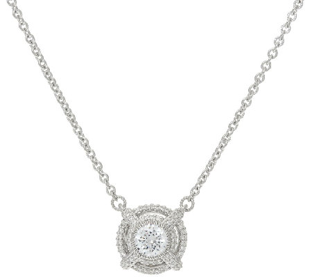 Judith Ripka Sterling 1.40 cttw Diamonique Necklace