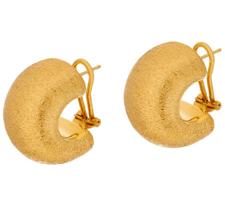 """As Is"" Veronese 18K Clad Bold Huggie Hoop Earrings"