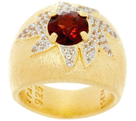Genesi 18K Clad Gemstone Cocktail Ring