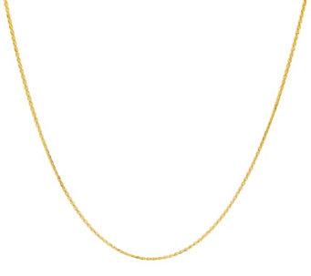 "Vicenza Gold 24"" Woven Necklace 14K Gold 2.8g - J331597"