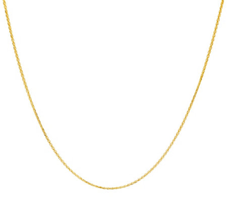 "Vicenza Gold 24"" Woven Necklace 14K Gold 2.8g"