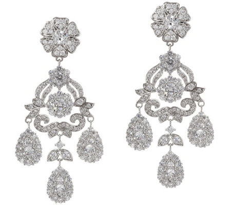 """As Is"" The Elizabeth Taylor 12.40 cttw Simulated Diamond Earring"