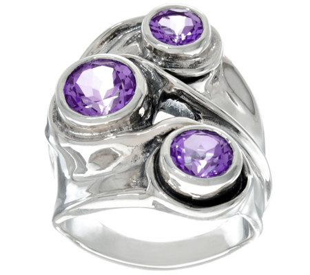 Hagit Sterling Silver 3 cttw. Gemstone Ring