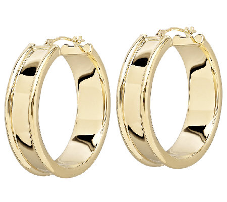 EternaGold Bold Cigar Band Hoop Earrings, 14K Gold
