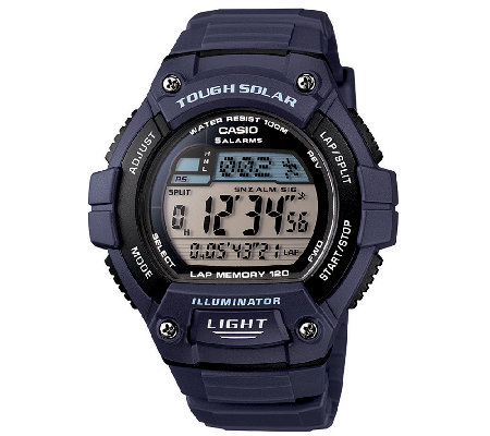 Casio Men's Blue Tough Solar Illuminator SportWatch