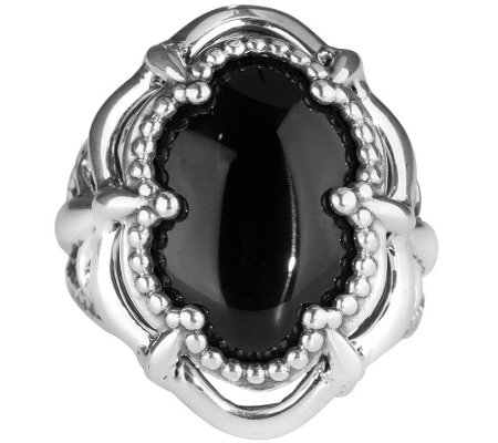 Carolyn Pollack Bold Sterling & Oval Gemstone Ring