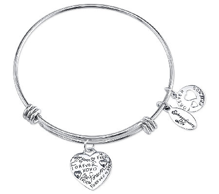 Sterling Expandable Forever Charm Bangle by Extraordinary Life