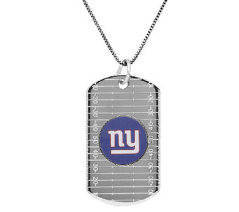 "NFL Sterling Silver Dog Tag Pendant w/24"" Chain - J340797"
