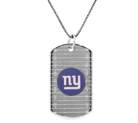 "NFL Sterling Silver Dog Tag Pendant w/24"" Chain"