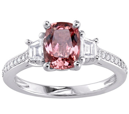 1.55 ct Pink Tourmaline & 3/4 cttw Diamond Ring, 14K