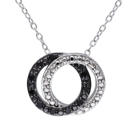 Black Diamond Pendant w/Chain, Sterling, by Affinity