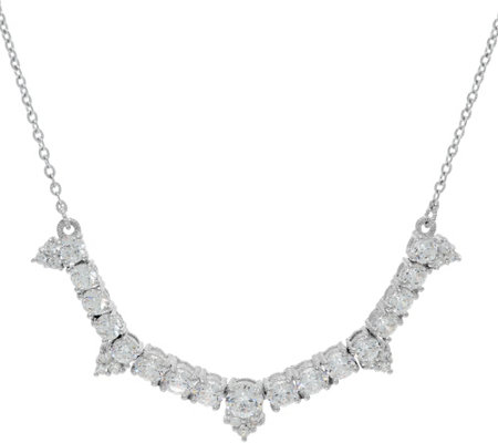 Judith Ripka Sterling 4.35 cttw Diamonique Necklace