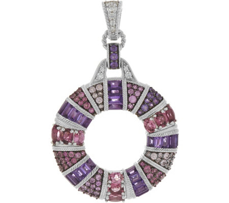Judith Ripka Sterling 4.80 cttw Multi Gemstone Circle Enhancer