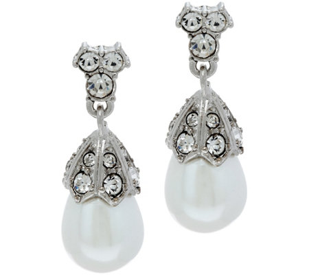 Joan Rivers Private Collection Simulated Pearl Drop Earrings